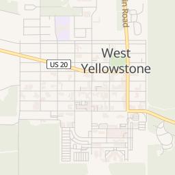 West Yellowstone Montana Map.West Yellowstone Montana Area Map Hotel At Yellowstone Park S West